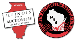 Wisconsin Auctioneers Assn and Illinois State Auctioneers Assn logos.